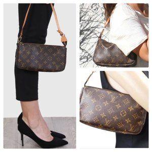 Auth Louis Vuitton Pochette Mini Bag #3454L20